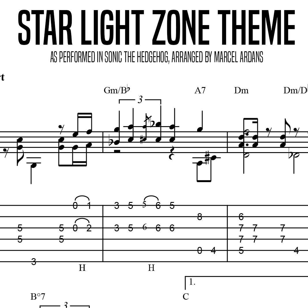 Star Light Zone Theme Sonic The Hedgehog Lessons With Marcel